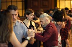 Tango dancers community hall du Faubourg