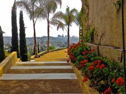 L. A. skyline views  wedding venue.