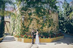 Castle Courtyard Wedding Photo Shoot