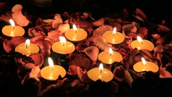 stock-footage-flowers-and-candles-for-birthday-dried-flowers-with-tea-candles-ro