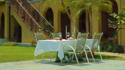 California poolside dining Al Fresco