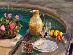 Los Angeles Rental w Poolside Dining
