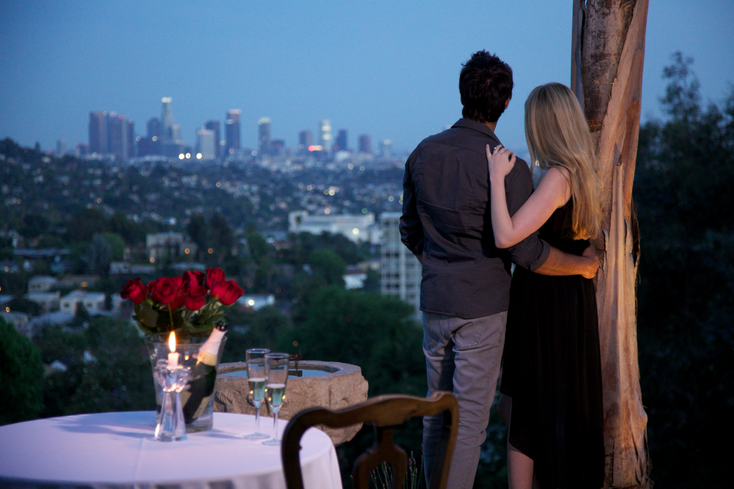 Marriage Proposal Dinner, L.A. views