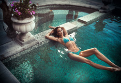 Swimming Pool Photo Shoot in L.A.