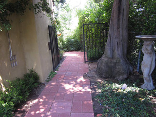 New walkway leading to guest house…