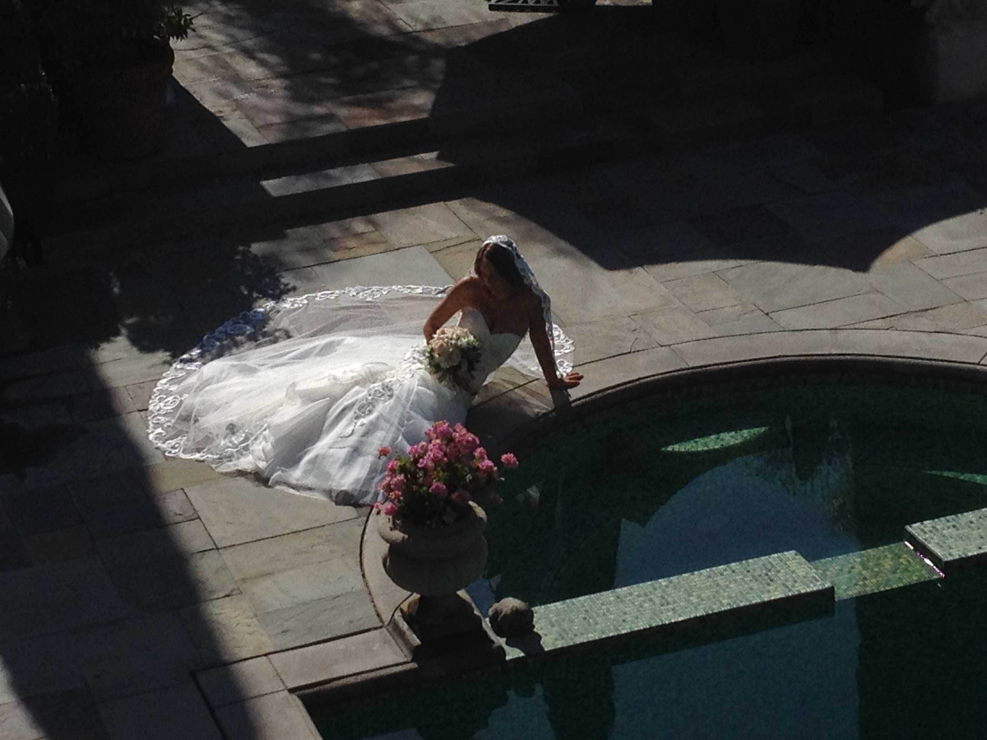 Wedding photo location in Los Feliz