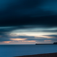 Newhaven lighthouse from Seaford beach