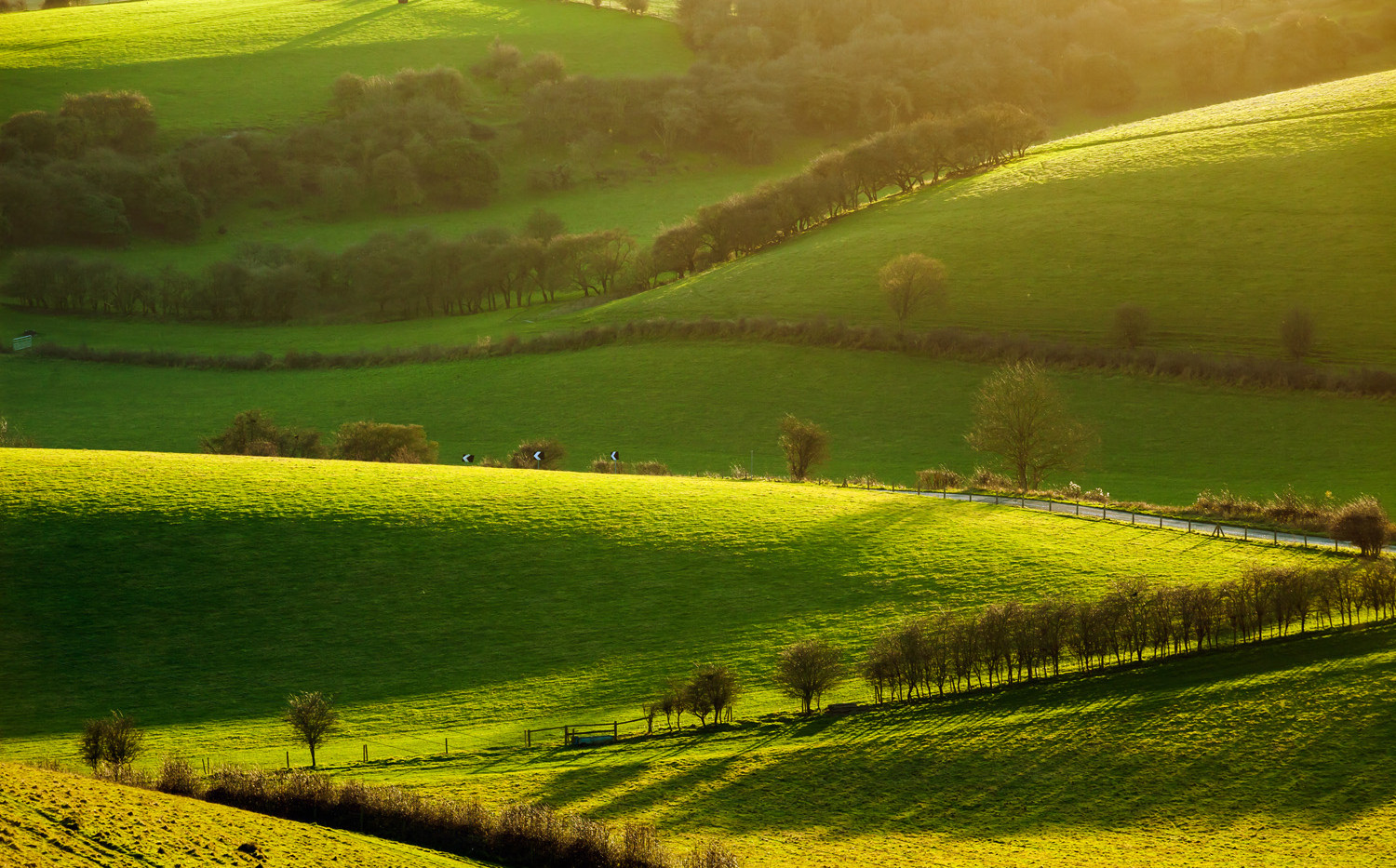 South Downs near Brighton, West Sussex.j