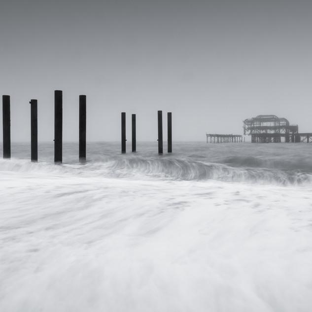 Ruins in Fog