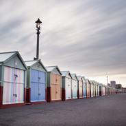 Hove Beach Huts early morning