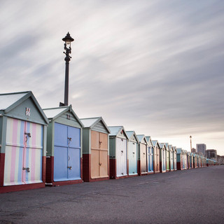 Hove Beach Huts early morning