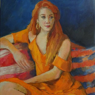'Naomi in Orange Dress'