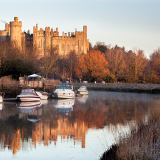 Arundel Castle on a winter morning