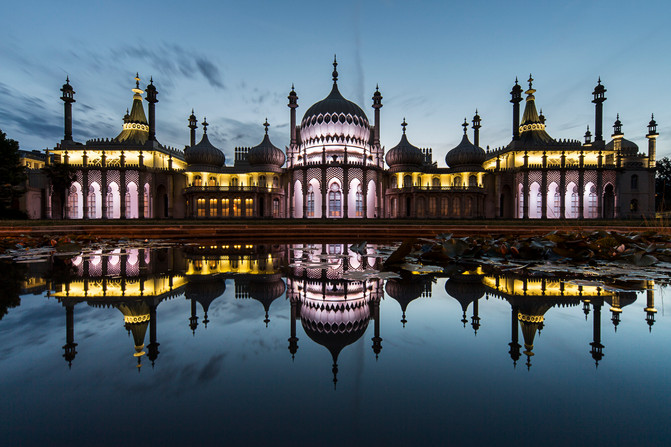 Royal Pavilion at Twilight.JPG
