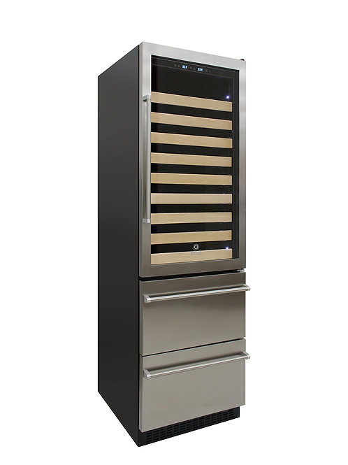 Stainless Steel Wine & Beverage Cooler (Right Hinge)