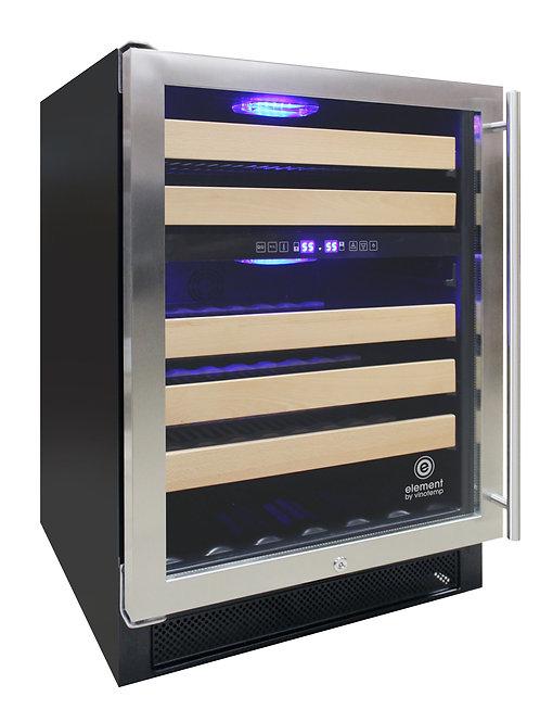 Connoisseur Series 46 Dual Zone Wine Cooler (left hinge)