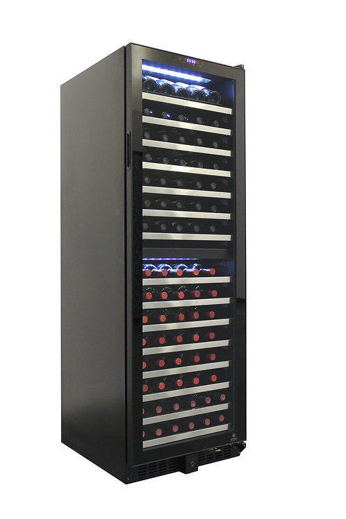 155 Bottle Dual-Zone Touch Screen Wine Cooler, Embraco compressor, CEC