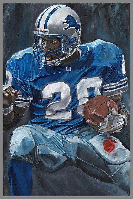 Barry Sanders Detroit Lions Sports Art