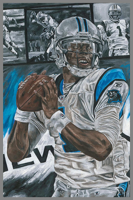 Cam Newton Carolina Panthers Sports Art