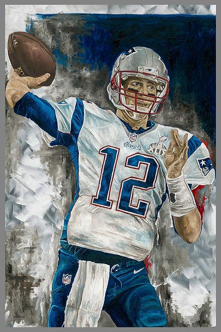 Tom Brady Super Bowl Painting