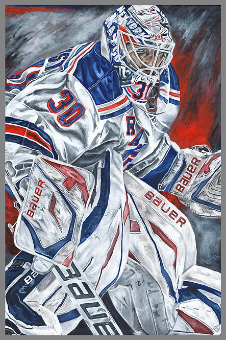 Henrik Lundqvist New York Rangers Sports Art