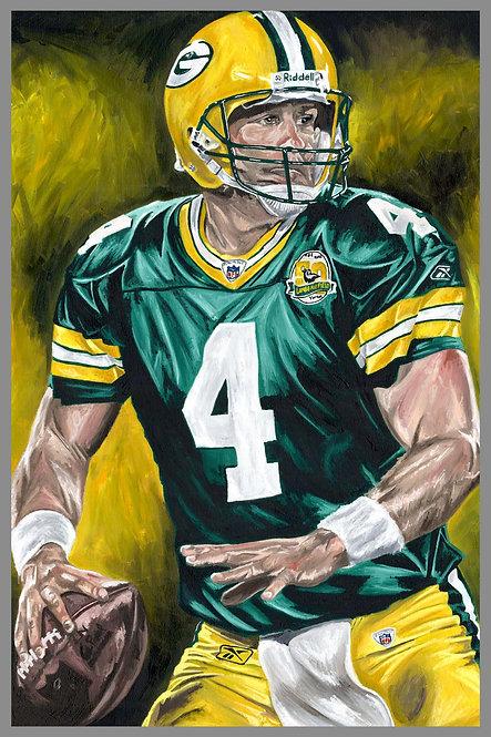 Brett Favre Green Bay Packers Sports Art