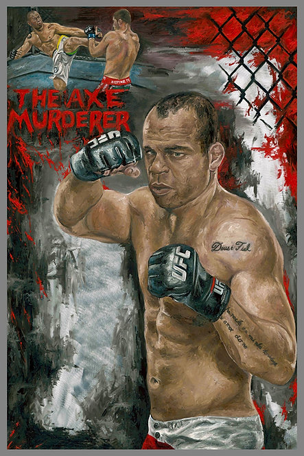 Wanderlei Silva Boxing Painting