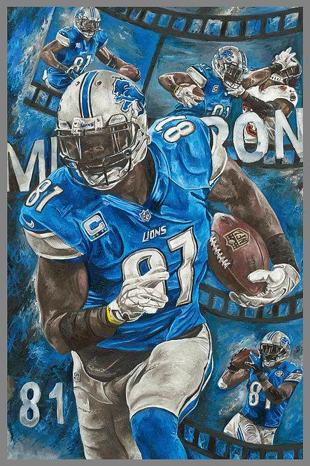 Calvin Johnson Detroit Lions Painting
