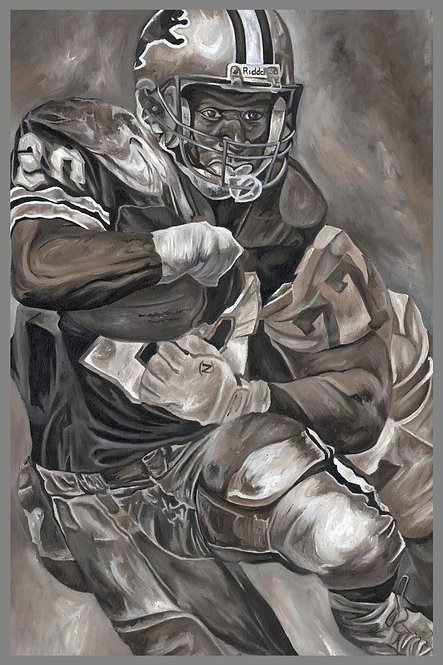 Barry Sanders Detroit Lions Sports Art