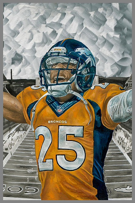 Chris Harris Denver Broncos Painting