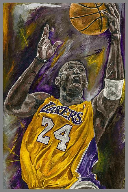 Kobe Bryant LA Lakers Painting