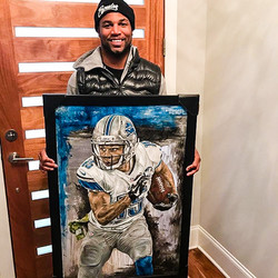 Golden Tate with Original Painting