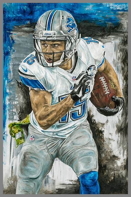 Golden Tate Detroit Lions Sports Art