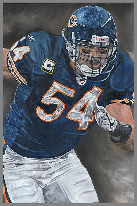 Brian Urlacher Chicago Bears Sports Art