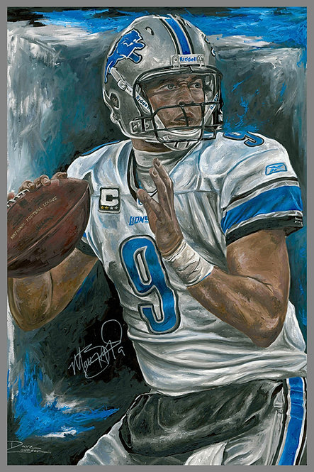 Matthew Stafford Detroit Lions Autographed Painting