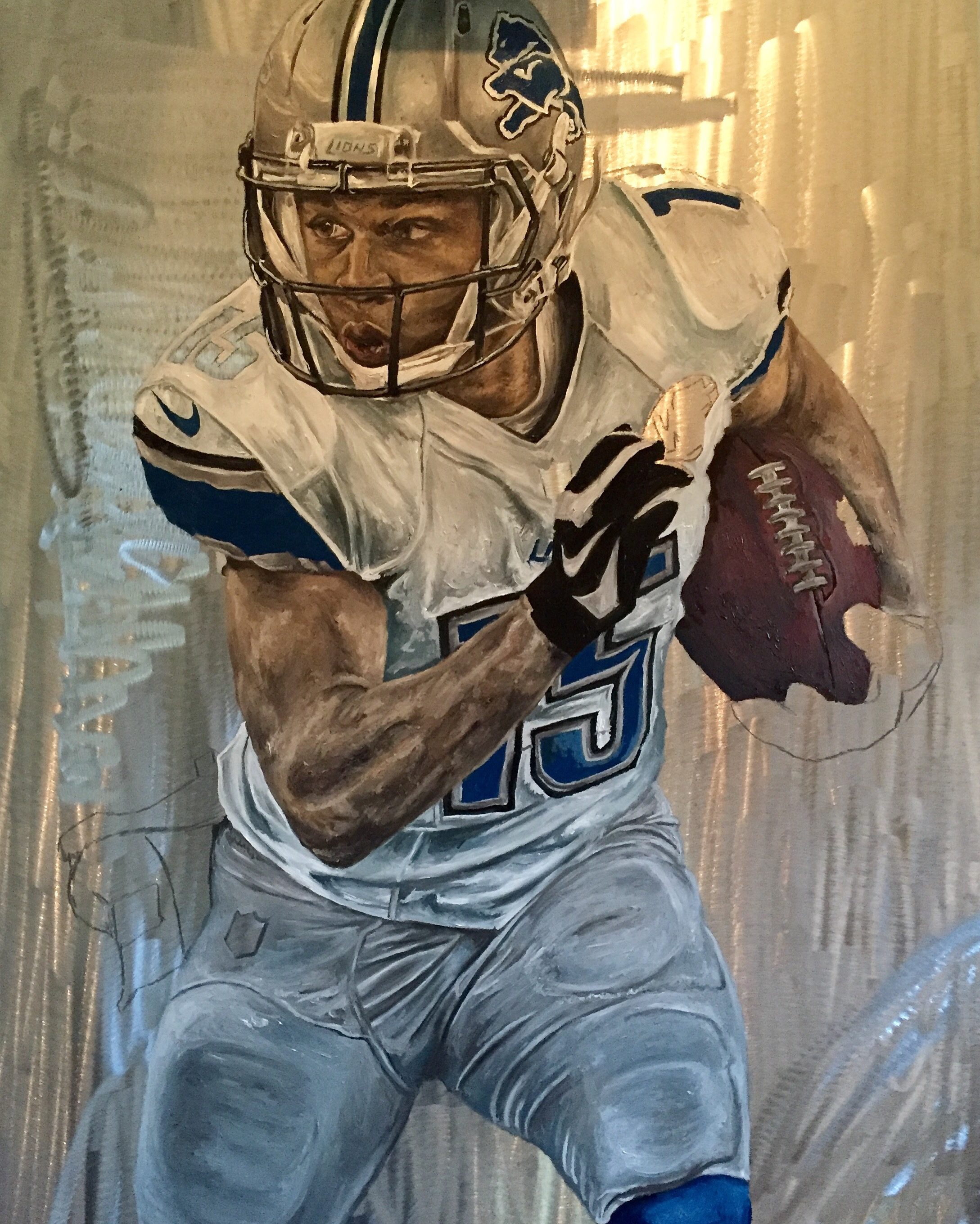 Golden Tate Sports Art