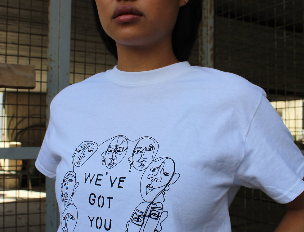 WE'VE GOT YOU TEE - White