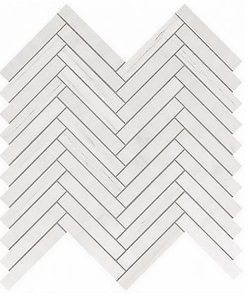 Bianco Dolomite Herringbone Wall