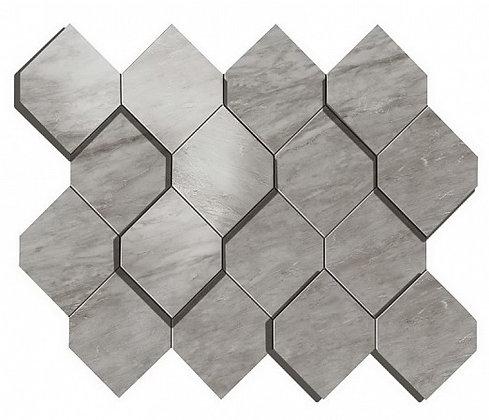 Bardiglio Grey Mosaico Esagono 3D