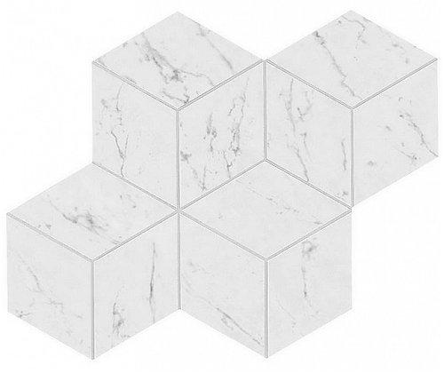 Carrara Pure Mosaico Esagono Lappato