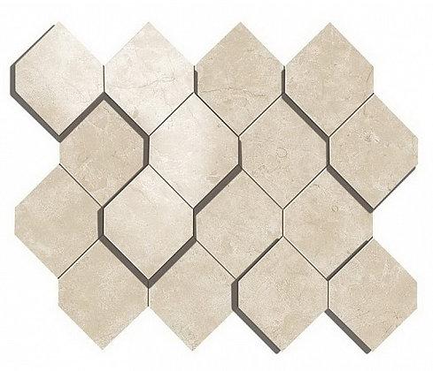 Cream Prestige Mosaico Esagono 3D