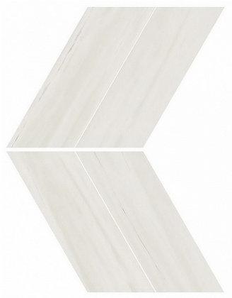 Bianco Dolomite Chevron Lappato