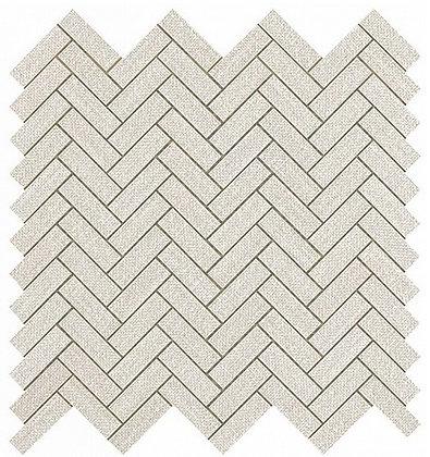 White Herringbone Wall 32,4x32,4