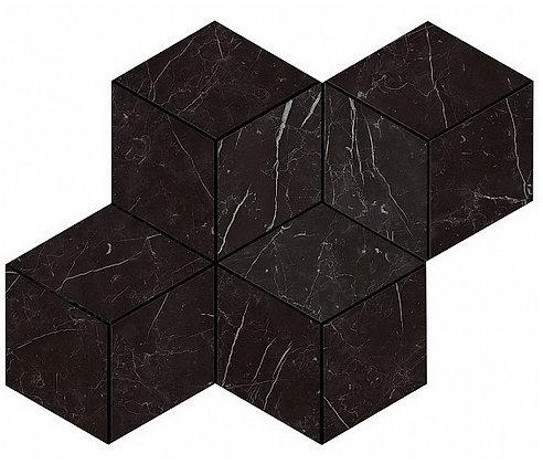 Nero Marquina Mosaico Esagono Lappato