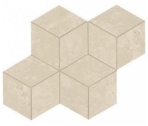 Cream Prestige Mosaico Esagono Lappato