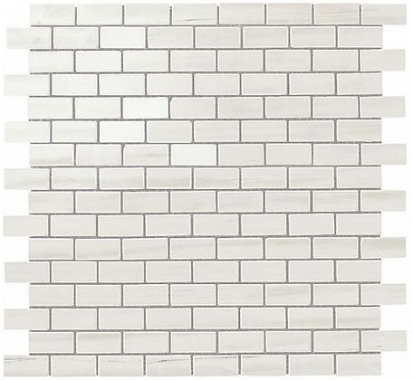 Bianco Dolomite Mosaico Lappato Burattato