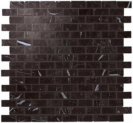 Nero Marquina Mosaico Lappato Burattato