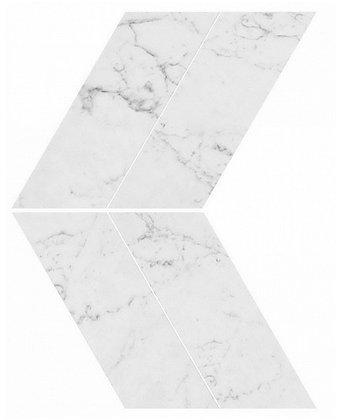 Carrara Pure Chevron Lappato