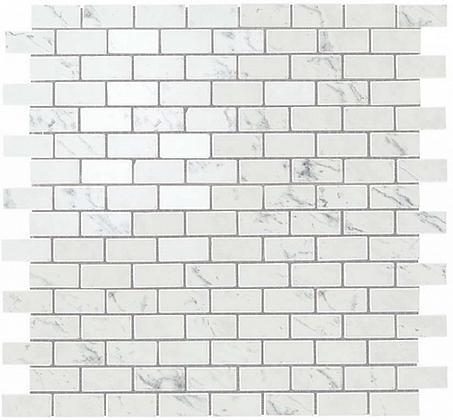 Carrara Pure Mosaico Lappato Burattato