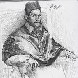 study of Retrato del Papa Inocencio Roma by Velazquez